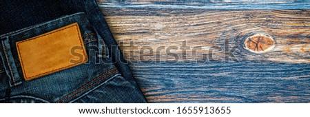 Jeans calças bandeira panorâmico topo Foto stock © Maridav