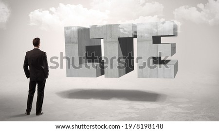 Achteraanzicht zakenman permanente afkorting css Stockfoto © ra2studio