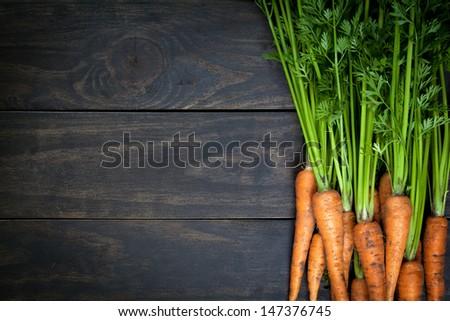 Taze havuç ahşap masa gıda sağlık arka plan Stok fotoğraf © wjarek