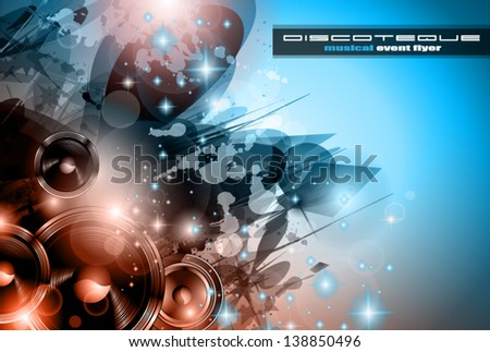 Music Club background for disco dance international event with a lot of design elements. Ideal for p Stock photo © DavidArts