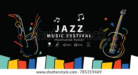 Abstract jazz music background Stock photo © lem