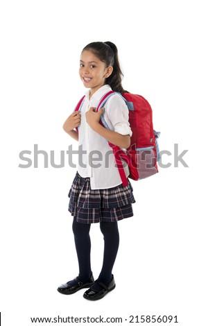 красивой · студент · рюкзак · учебники · белый - Сток-фото © wavebreak_media