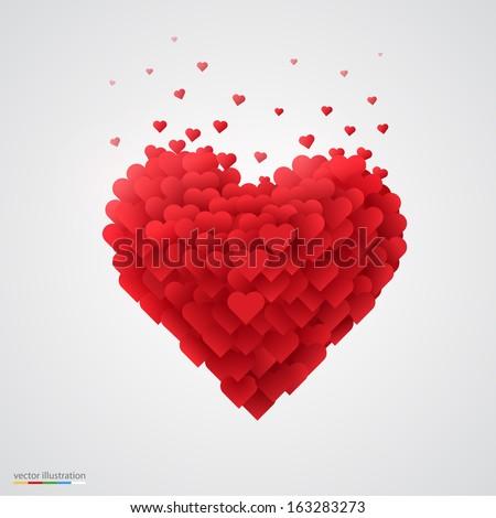 Belo dia dos namorados vermelho colorido forma de coração vetor Foto stock © bharat