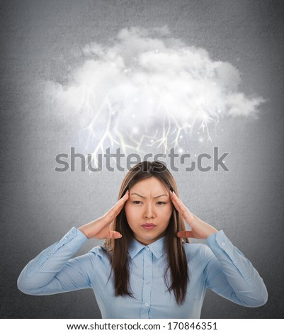 Dolor de cabeza burbuja de pensamiento cabeza Foto stock © hasloo