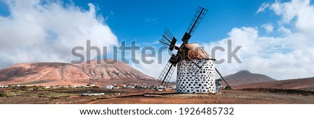 Windmill · Канарские · острова · Испания · старые · здании · энергии - Сток-фото © adrenalina