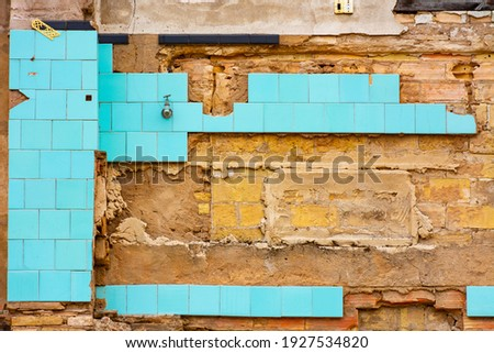 remains of house rooms with tile and brick Stock photo © Melvin07