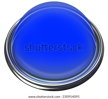 Blue Round Button Light Catch Attention Advertise Message Alert Stock photo © iqoncept
