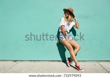 Açık yaz portre genç moda Stok fotoğraf © majdansky