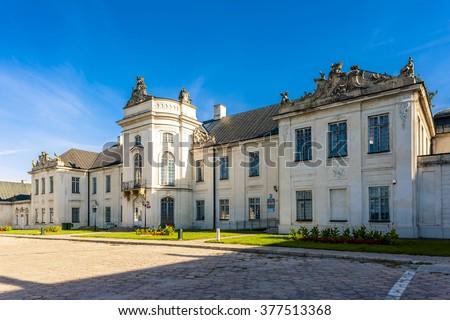 Rodziny pałac zamek architektury odkryty Polska Zdjęcia stock © phbcz