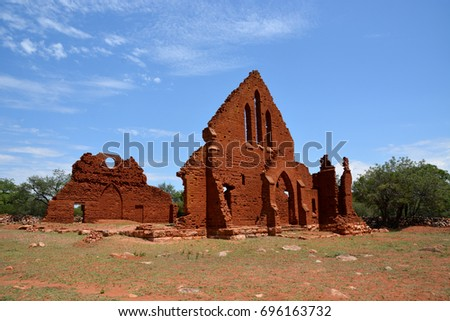 old palapye church botswana stock photo © thp