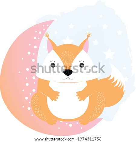 écureuils amour clair de lune illustration couple nuit Photo stock © adrenalina