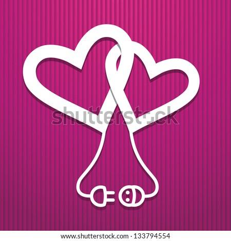 Valentine's day electric concept, corrugated paper Stock photo © Oakozhan