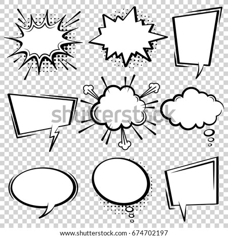 set of multicolor vector illustration of thought bubbles collection unusual design stock photo © jeksongraphics