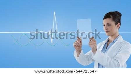医師 見える パルス トレース 透明な 画面 ストックフォト © wavebreak_media