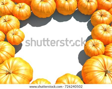 Narancs keret ősz fehér copy space 3d illusztráció Stock fotó © tuulijumala