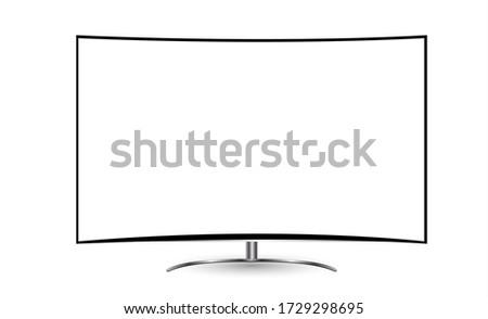 vector · tv · aislado · blanco · televisión · película - foto stock © pikepicture