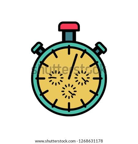 Cronógrafo símbolo diseno tiempo deportes Foto stock © popaukropa