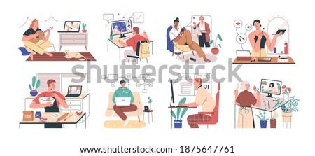 школьник набор различный интернет школы торговых Сток-фото © toyotoyo