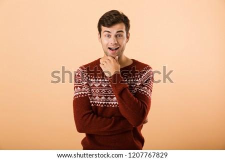 画像 興奮した 男 20歳代 剛毛 着用 ストックフォト © deandrobot