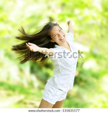 счастливым женщина улыбается полный радости жизнеспособность лет Сток-фото © Lopolo