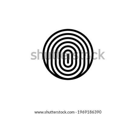 Cryptographic signature glyph icon, security and identity, fingerprint sign, Vector illustration iso Stock photo © kyryloff