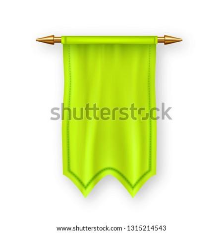 Amarillo bandera vector tejido publicidad lienzo Foto stock © pikepicture