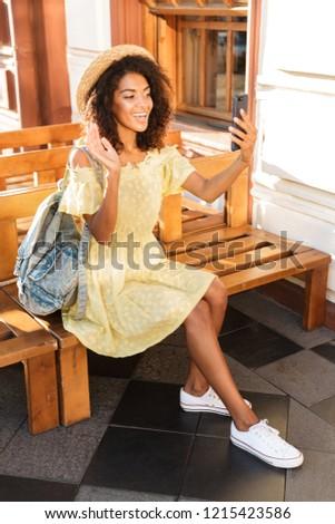 fotó · csinos · afroamerikai · nő · 20-as · évek · visel - stock fotó © deandrobot