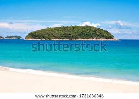 Man on background of Promthep cape and Yanui beach. Phuket, Thailand Stock photo © galitskaya