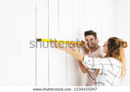 Photo joli couple homme femme Photo stock © deandrobot