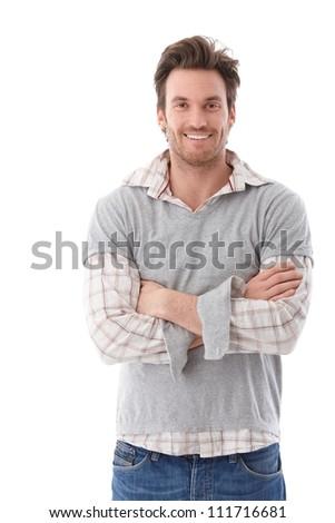 Fotó derűs felnőtt férfi 30-as évek visel Stock fotó © deandrobot