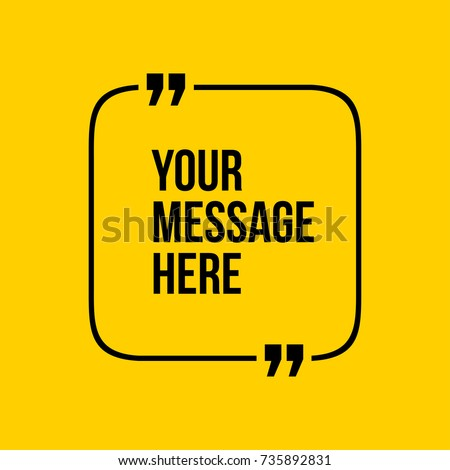 Yellow Innovative vector quotation template in quotes. Creative vector banner illustration with a qu Stock photo © kyryloff