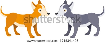 Paper design with two cute dogs Stock photo © colematt