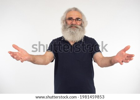 Benevolent smiling man opening his arms Stock photo © Giulio_Fornasar