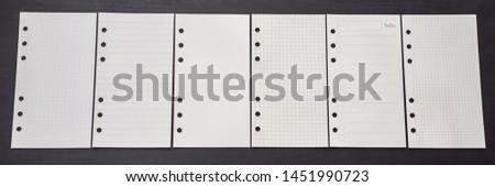 異なる 紙 帳 黒 木製 ビジネス ストックフォト © galitskaya
