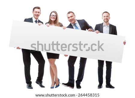 Business people holding a card with teamwork text Stock photo © wavebreak_media