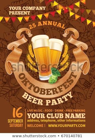 Октоберфест пива фестиваля плакат празднования вечеринка Сток-фото © -TAlex-
