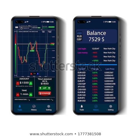 Finansowych rachunkowości smartphone ekranu wektora ikona Zdjęcia stock © pikepicture