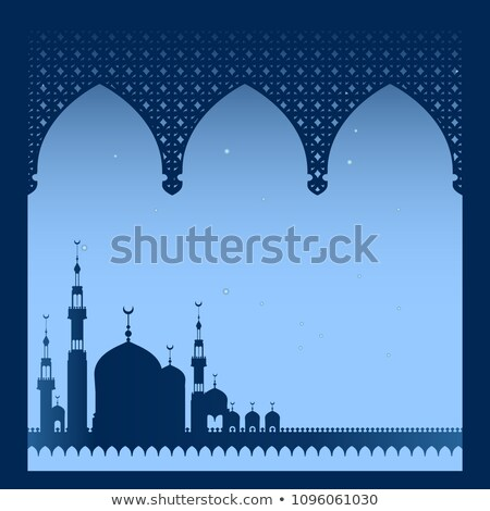Mosque silhouette in Istanbul against a dark background  Stock photo © mayboro