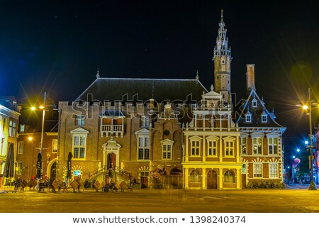 Cidade ouvir Holanda casa edifício rua Foto stock © borisb17