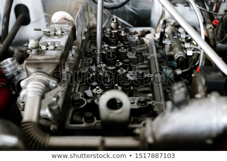 Part of engine or motor of large machine or car during technical repair Stock photo © pressmaster