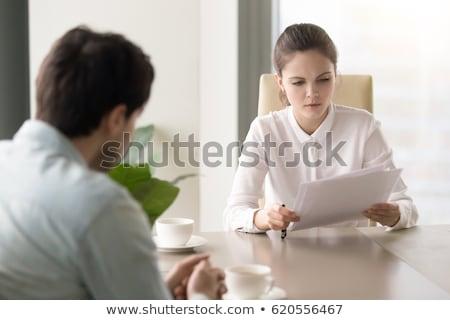 бизнесмен · деловая · женщина · подписания · бумаги · фотография · бизнеса - Сток-фото © pressmaster