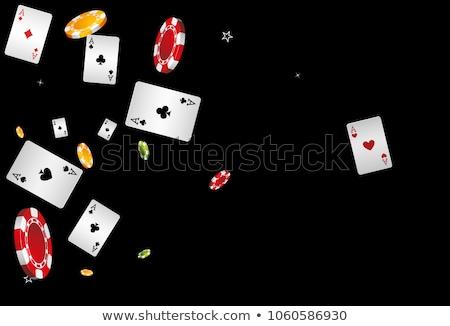 черный · фишки · для · покера · вектора · реалистичный · набор · пластиковых - Сток-фото © robuart