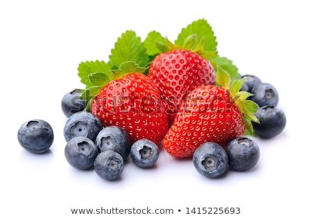 verão · morangos · mirtilos · ver · maduro · comida - foto stock © klsbear