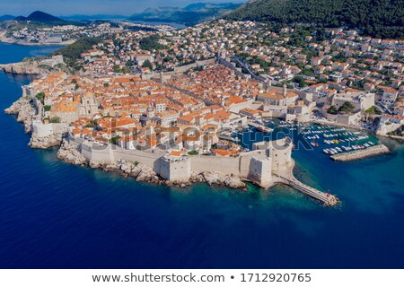 Dubrovnik. Aerial panoramic view of Dubrovnik harbor Stock photo © xbrchx