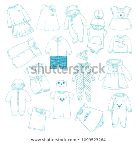 Set of different children's clothing. Can be used as clothes for Stock photo © Arkadivna