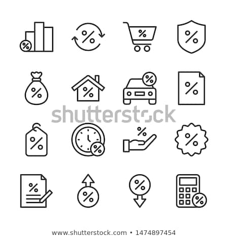 Loan Percent Building Icon Vector Outline Illustration Stock photo © pikepicture
