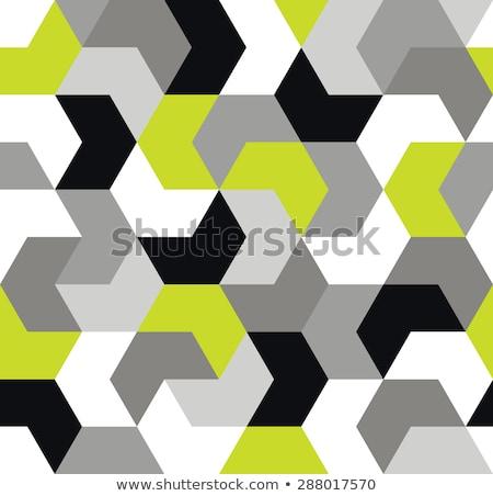 Zielone bezszwowy geometryczny wzór twórczej projektu Zdjęcia stock © ExpressVectors