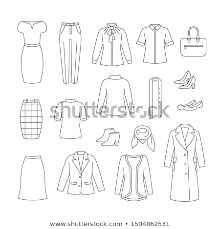 eenvoudige · kleding · jurk · iconen · vector - stockfoto © stoyanh