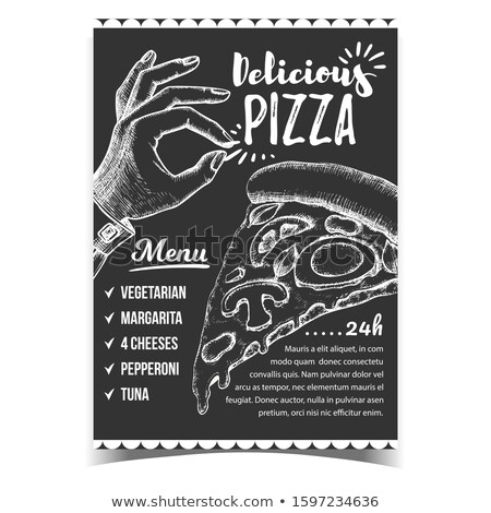 Pizza menu gest plakat Zdjęcia stock © pikepicture