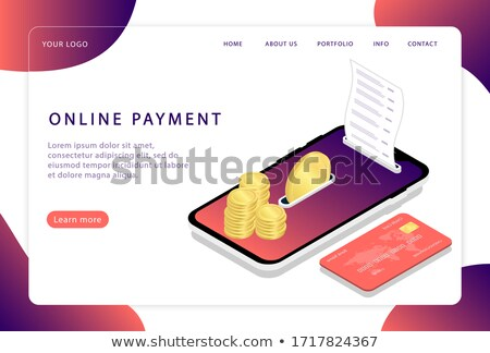 Mobile Payments Financial Advertise Banner Vector Stock photo © pikepicture